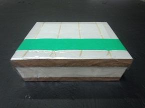 畳の張り替え 工事 新畳料金。クッション有りの畳の芯材の画像。化学床3型 クッションあり