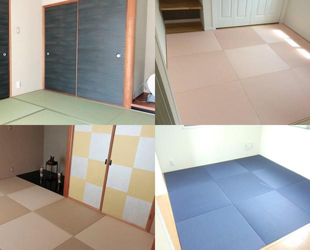 ヤスオ畳店の畳と襖を使った内装リフォームサービスの施工例写真