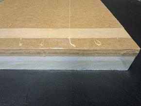 畳の張り替え 工事 新畳料金。一般的によく使われている畳の芯材の画像。化学床2型クッションなし