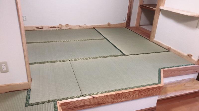 フロア形状に合わせた特殊な畳の内装工事の施工例